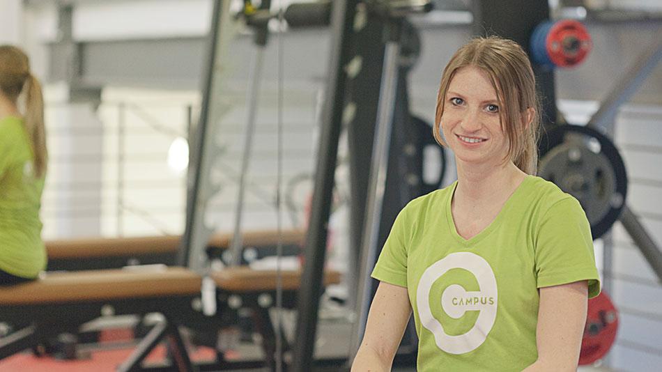 Aline Mallmannist Teil unseres Teams, denn im Campus Sports Club Saarbrücken werdet Ihr von geschultem Personal betreut, das genau weiß, worauf es ankommt.