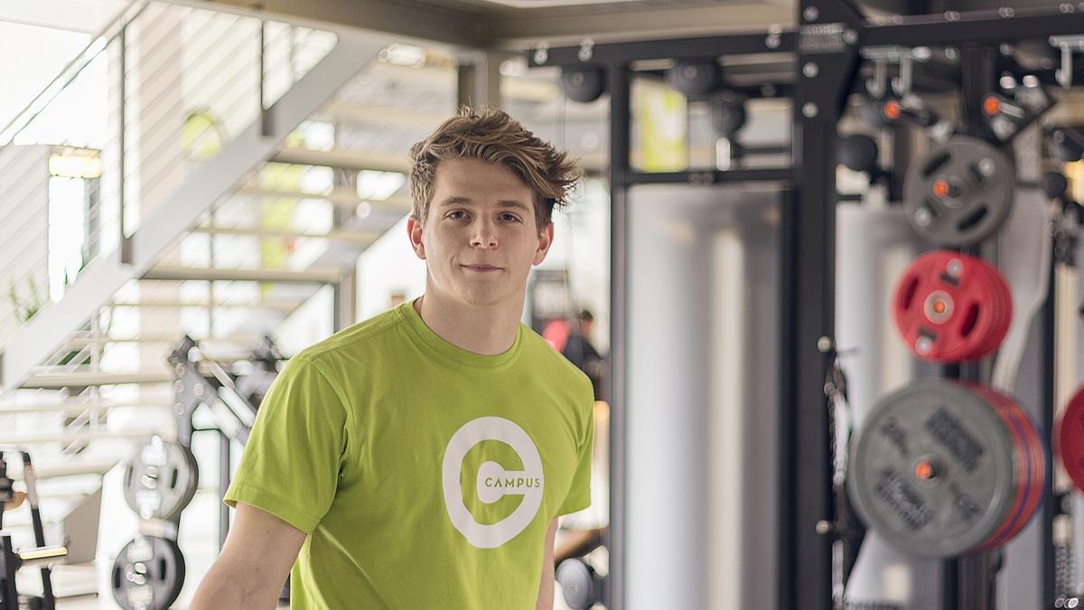 Melvin Heid ist Teil unseres Teams, denn im Campus Sports Club Saarbrücken werdet Ihr von geschultem Personal betreut, das genau weiß, worauf es ankommt.